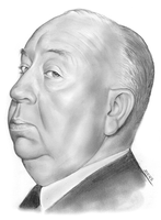 Alfred Hitchcock by gregchapin