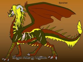Banshee the Dragoness by trainman666