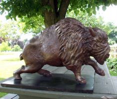 Cast Bison Sculpture by MiiruFae