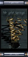 3D Gold springs - .psd files by W-F-Stock