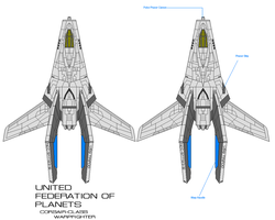 Federation Corsair Warpfighter by fongsaunder