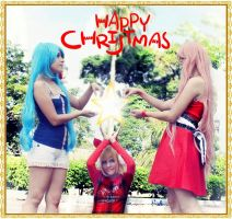 Happy Christmas for Miku, Rin and Luka! by HanaKiyoha