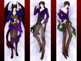 Commission Pillows: Middy, Rurik, Demyan by Ruri-dere