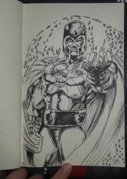 quick sketch Magneto by Sandy-reaper