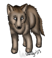 Wolf Pup by Wolfgrl13