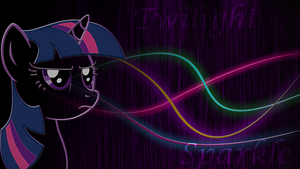 Twilight Sparkle glow metallic wallpaper by RainBowDash89