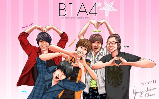 B1A4 loves you :D by ychen183