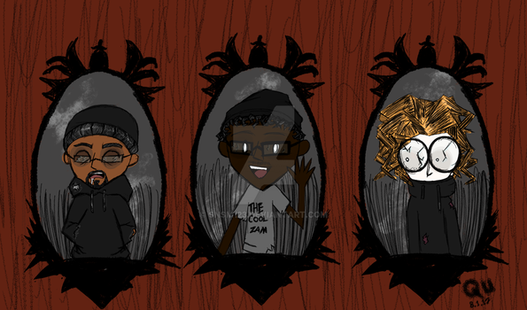 Dont starve together of Rioda, Zam and Qu by SNSM123