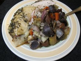 Garlic-Lavender Turkey and Vegetables 3 by Windthin