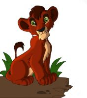 lion king kovu coloured by lindaatje