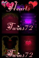 Hearts by Twins72-Stocks