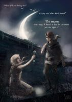Auri and Kvothe: The key by Stella-di-A