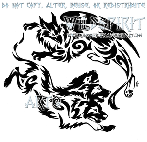 Gryphon And Cerberus Tribal Design