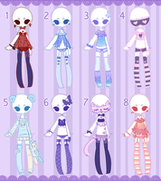 Outfit adopts: Lingerie / pjs  CLOSED by Lunadopt