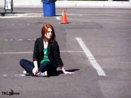 Redhead in Parkinglot by angelsfalldown1