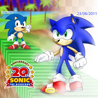 Sonic 20th Anniversary by FantasyAshley