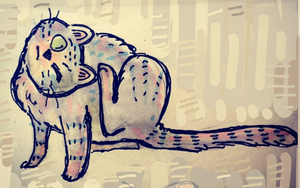 cat sketch 2 by Alyssizzle-Smithness