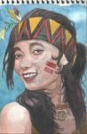 A girl in native American costume by LongingBlackAngel