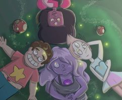 Steven and The Gems Stargazing by apdoodles
