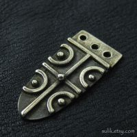 Bronze Anglo-saxon strap end by Sulislaw