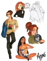 Disney High Sketch Dump by skitzzles