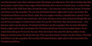 Wretched And Divine Lyrics by Ash-Love