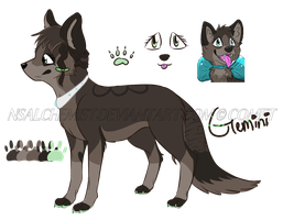 Gemini's Minature Reference by Nightshade-Galaxy