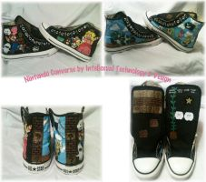 Nintendo Converse by IntellexualDesign