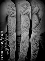 Angel sleeve by Tat2Gem