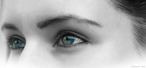 Emilie's eyes by firefrank