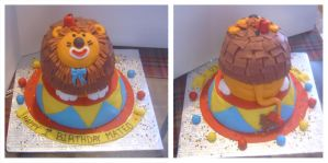 Circus Lion cake by Cakerific