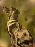 Commissioned Dog by Stencilart101