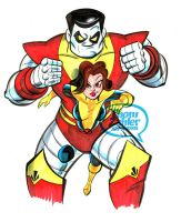 Kitty Pryde and Colossus by tzahler