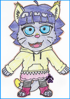 Giant Himawari Wall Cut-Out (Traditional) by PurpleAlphaWolf