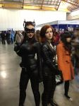 Black Widow and Catwoman by ArcticFidelity