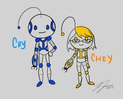 Cryaotic and Cheyenne ~ Portal 2 by LyraEri