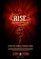 """Rise"" Drum'n'Bass flyer by Crittz"