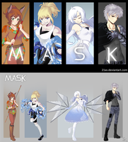 RWBY OC Commission: Team MASK by 21as