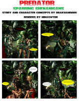 Predator Comic: Sparring Shenanigans by Drakhand006