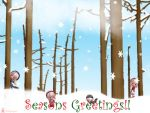 Seasons Greetings Wallpaper by jenepooh
