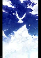 Sky, Cloud, and Bird by Sword-Waltz