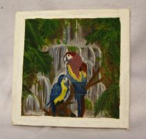 2X2 Macaw Painting by Underworld666Chaos