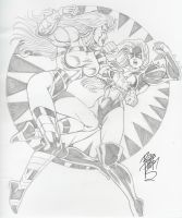 Catfight: Stunner vs. Titania by Robb Phipps by zefly88