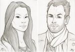 Elementary - headshot sketches by AmyClark
