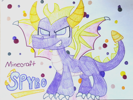 .:Request 1 out of 10:. Minecraft Spyro the Dragon by KooplaDrawer