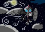 :BG: Angel fly through night by The-Angel-D