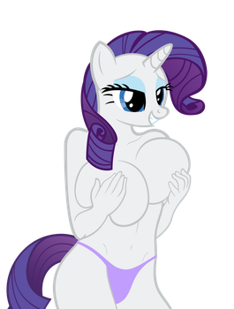 Rarity holding her melons~ by sofunnyguy