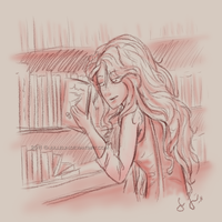In the Library by Jullelin