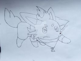 Me as a Zorua lineart by Car-lover33