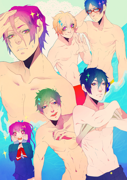 Free! shirtless by animegirl000